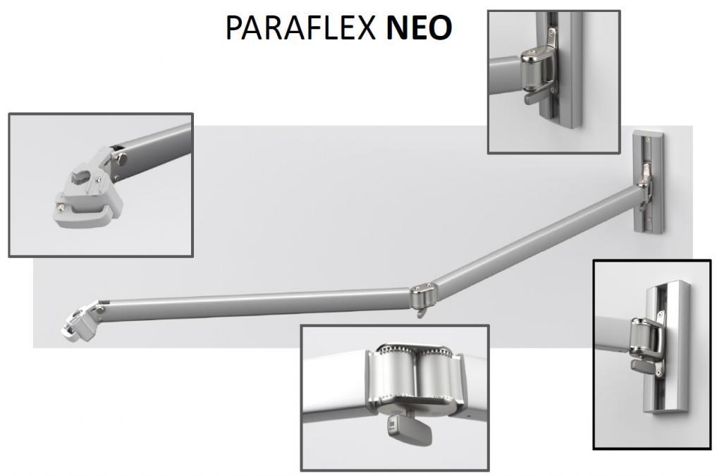 Bras NEO 2m pour parasol au mur Paraflex Wallflex UMBROSA