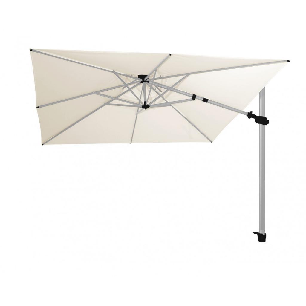 Parasol mat déporté gris clair Fratello Pro SOLERO
