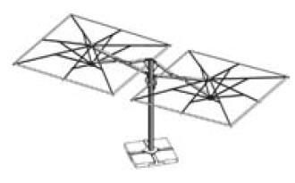 parasol astro dual T un mat et deux toiles