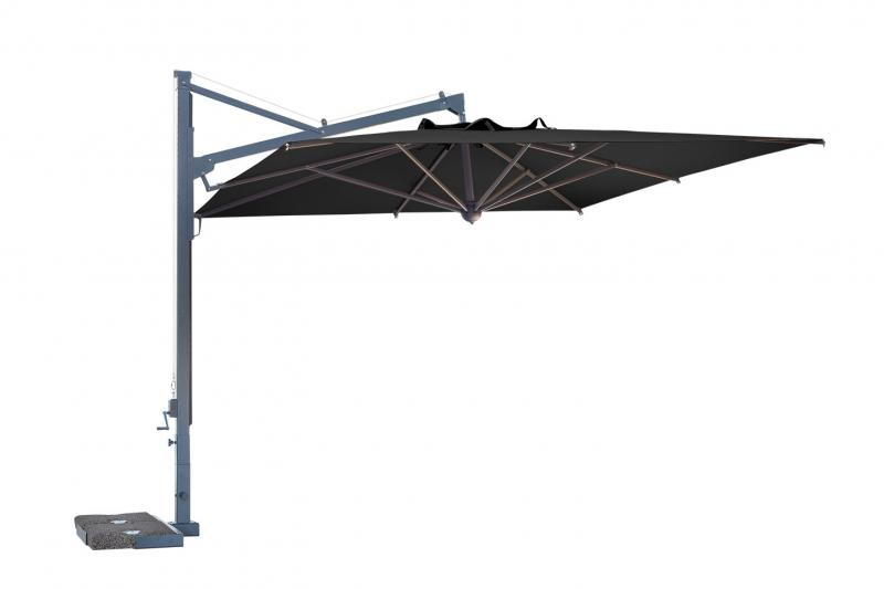 Parasol cuadrado en voladizo 3x3m Galileo Dark SCOLARO