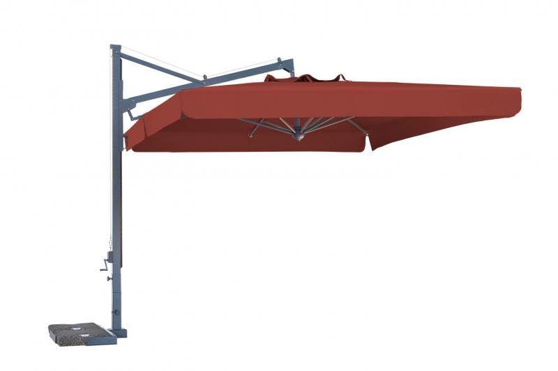 Sombrilla de mástil lateral rectangular 3x4m Galileo Dark SCOLARO
