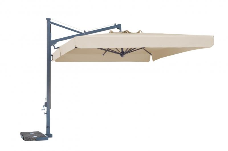 Parasol de piscina de mástil lateral Galileo Dark SCOLARO