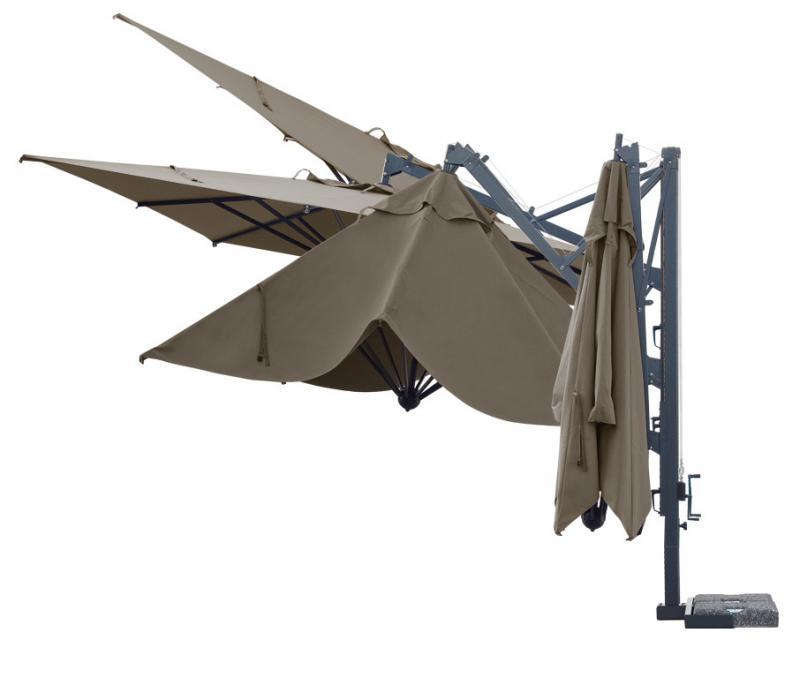 Parasol de mástil lateral de calidad Galileo Dark SCOLARO