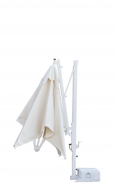 Parasols à mât excentré pour terrasse Galileo Starwhite ou Inox SCOLARO