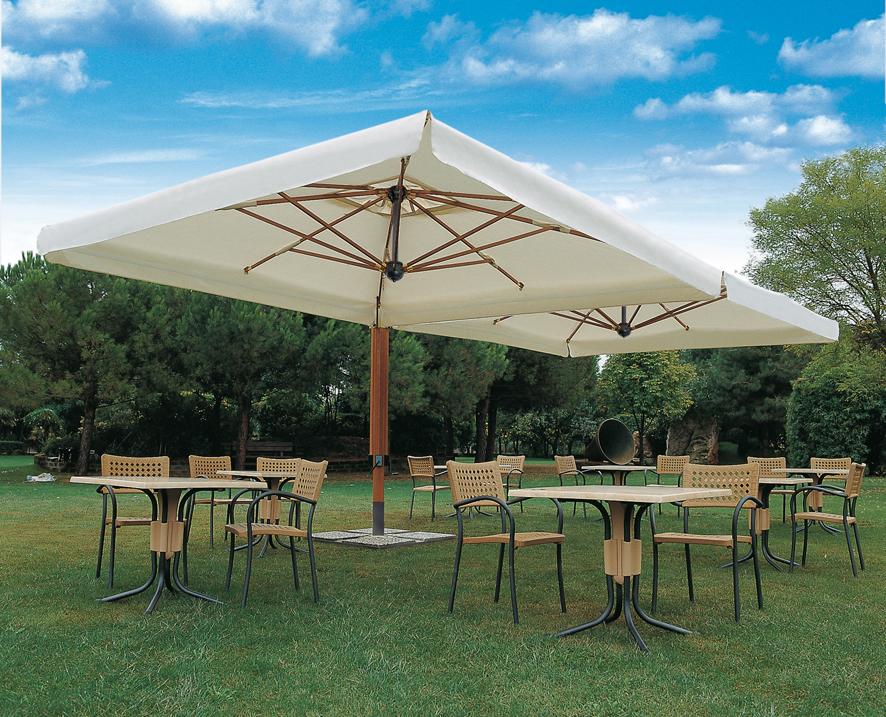 Parasol cuadrada mastil lateral 6x6m Alu Poker Scolaro SCOLARO