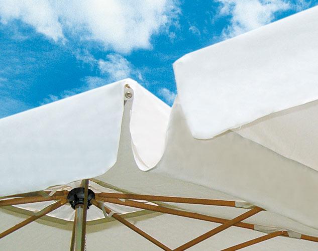 Gran rectángulo parasol mastil lateral 4x8m Alu Double Scolaro SCOLARO