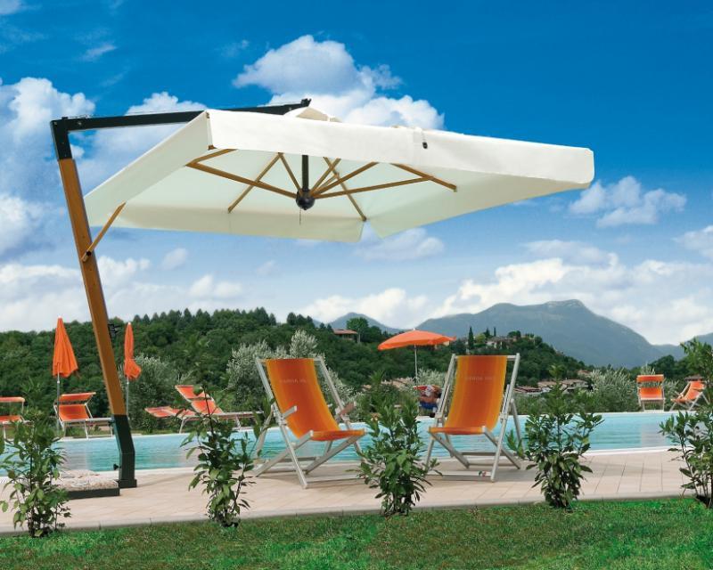 Parasol de mástil lateral 3.5x3.5m Palladio Braccio SCOLARO