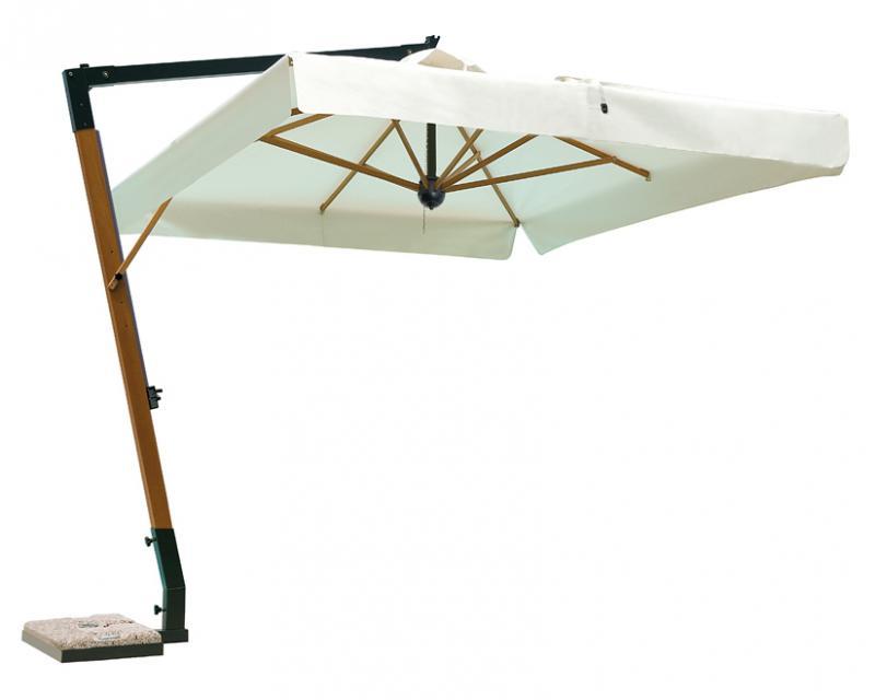 Sombrilla madera redondo 3.5m Palladio Braccio SCOLARO