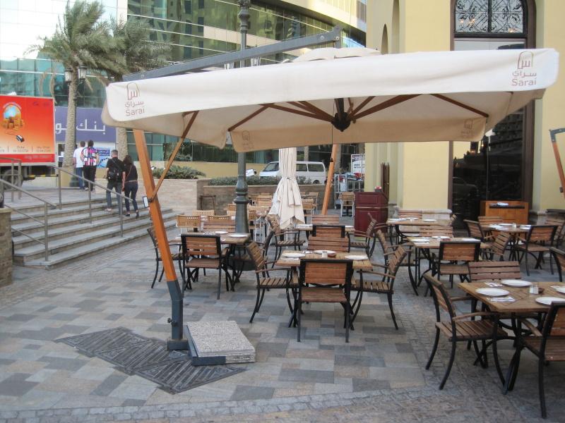 Sombrilla de mástil lateral rectangular 3x4m Palladio Braccio SCOLARO