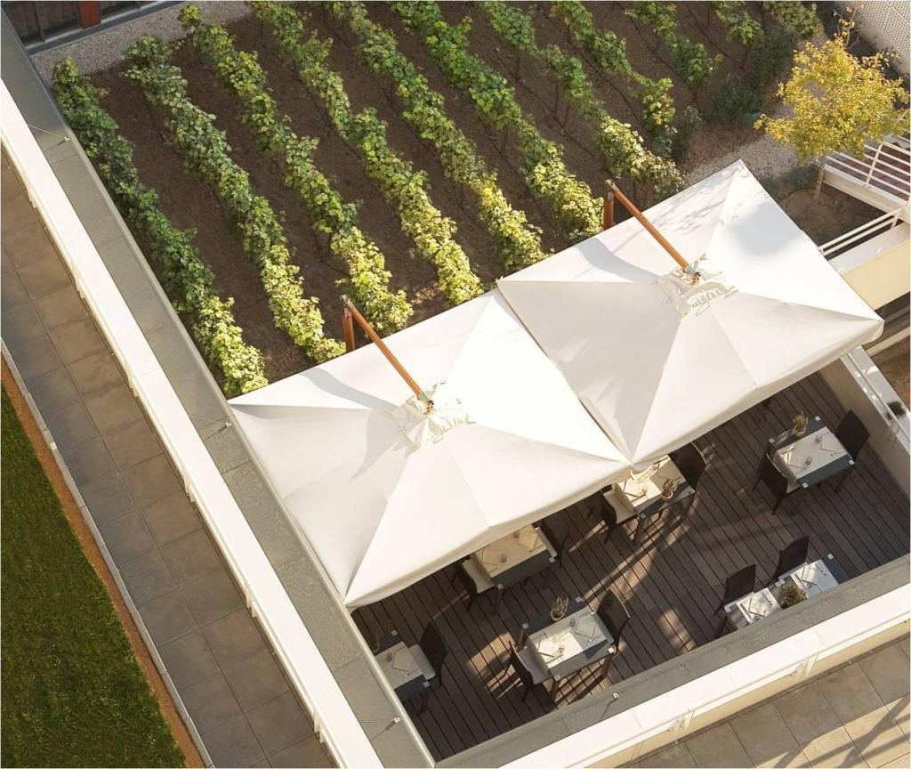 Parasoles de restaurante en voladizo Palladio Braccio SCOLARO