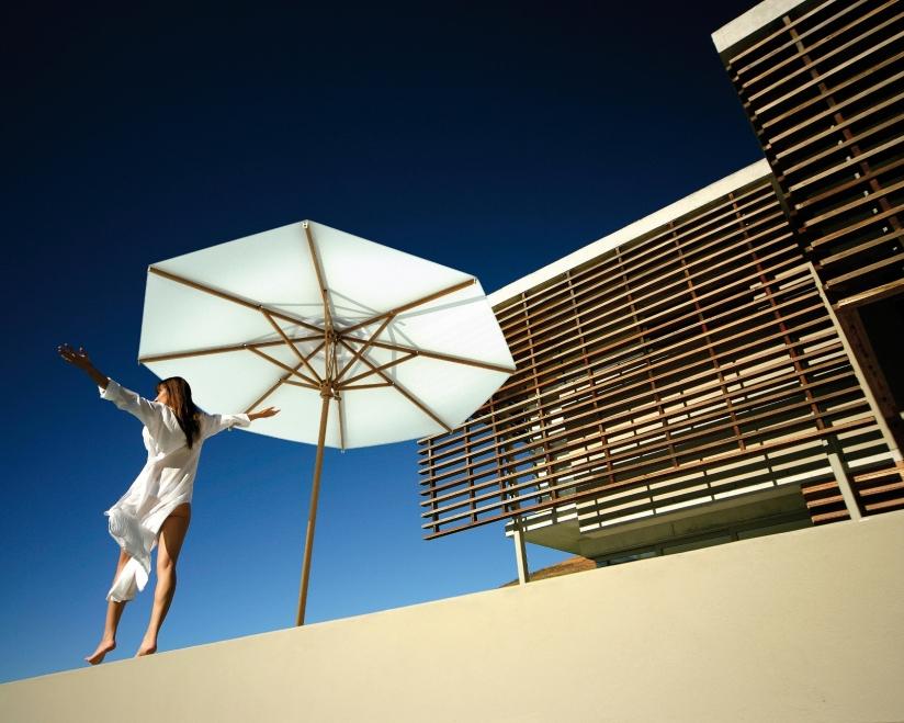 Parasol bois carré 2x2m 3x3m 4x4m Palladio Standard SCOLARO