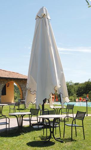 Parasol de aluminio blanco o negro de 4x4m Capri Dark o Starwhite SCOLARO