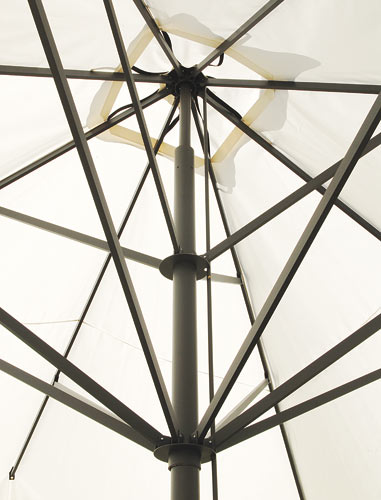 Parasol de restaurante exclusivo Capri Dark o Starwhite SCOLARO